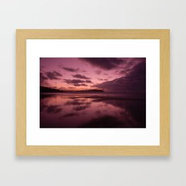 Winter Sunset Framed Art Print