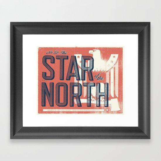 Minnesota Framed Art Print