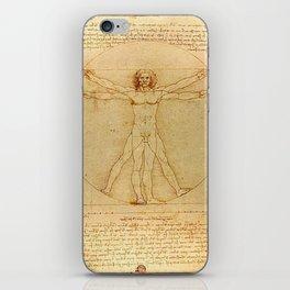 Vitruvian Man - Leonardo da Vinci iPhone Skin