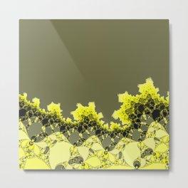 Abstract organic fringe Metal Print