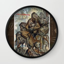 Macaques for Responsible Travel Wall Clock