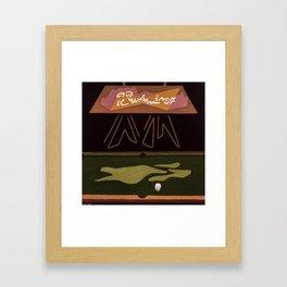 Pool Table Framed Art Print