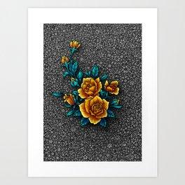 Mama's Garden - Gray Art Print