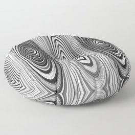 Abstract Black and White Design 651 Floor Pillow