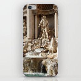 Rome, Italy. Trevi Fountain. iPhone Skin