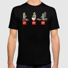 EAT SHIT RUN CYCLOPS LEGO LARGE Black Mens Fitted Tee
