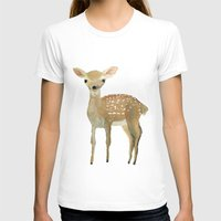 fawn T-shirts featuring Fawn by Pastelliaa