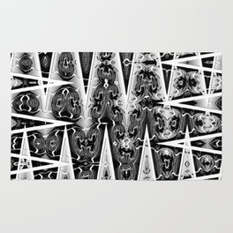 Black and White Mosaic Rug