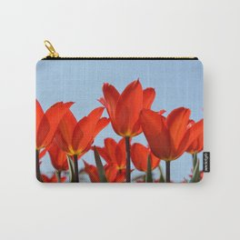 Bright Red Tulips Carry-All Pouch