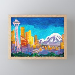 Expression Seattle Framed Mini Art Print