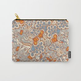 orange and blue pattern Carry-All Pouch