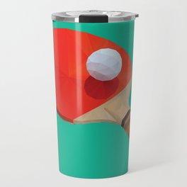 Ping Pong Paddle polygon art Travel Mug