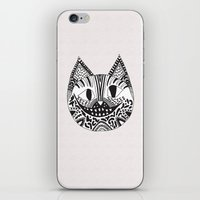 cheshire cat iPhone & iPod Skins featuring  CHESHIRE CAT by Vasare Nar