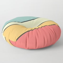 Abstract Graphic Design Pastel Floor Pillow