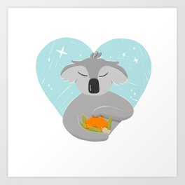 Australian Wildfire Relief Koala Art Print
