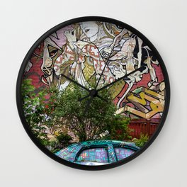 toronto graffiti car Wall Clock