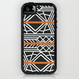 Tribal ethnic geometric pattern 022 iPhone Case