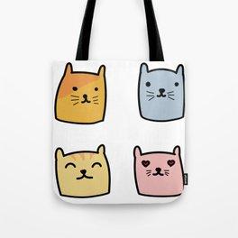 Cute Cat Doodle Set Tote Bag