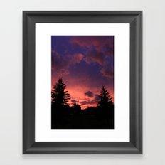 Sky On Fire Framed Art Print