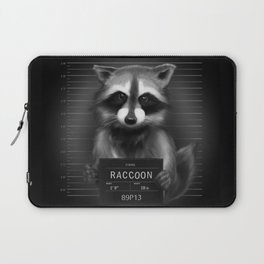 Raccoon Mugshot Laptop Sleeve
