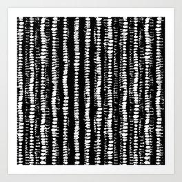 Black and White Series: Tie Dye Art Print