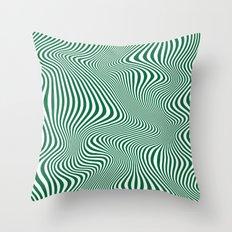 DISTORTION GREEN Throw Pillow
