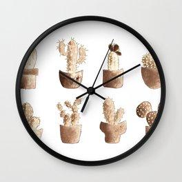 One cactus six cacti original version Wall Clock