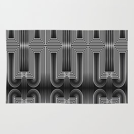 Art Deco 32 . Graffiti black and white Rug