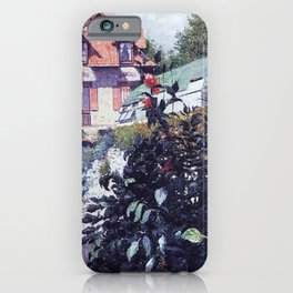 The Garden at Petit Gennevilliers by Gustave Caillebotte iPhone Case