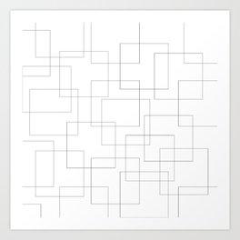 Inside the Box Modern Art Art Print