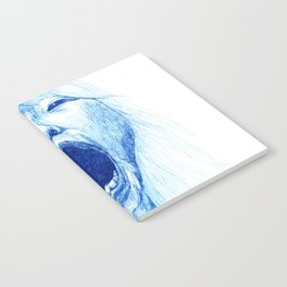 Woman Yawning or Screaming Notebook