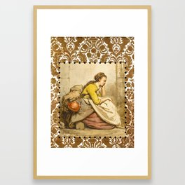 Traveling girl Framed Art Print