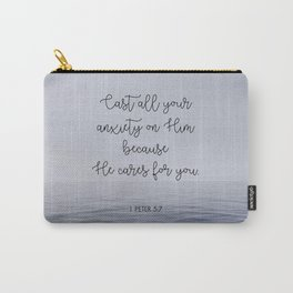 Cast All Your Anxiety on Him Carry-All Pouch