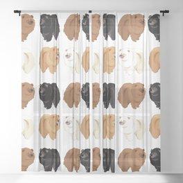 Chow Chow Sheer Curtain