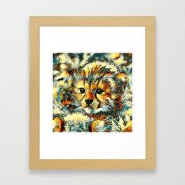 AnimalArt_Cheetah_20170602_by_JAMColorsSpecial Framed Art Print