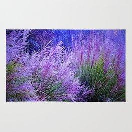 Purple long grass Rug