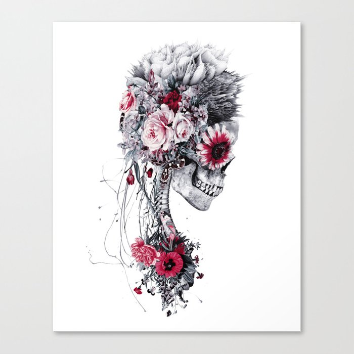 Skeleton Bride Canvas Print