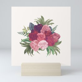 Pink Flowers Painting Mini Art Print