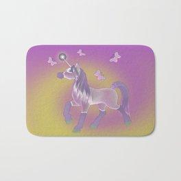 Lilac Unicorn .. fantasy art Bath Mat