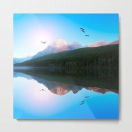 Water Mountain Metal Print