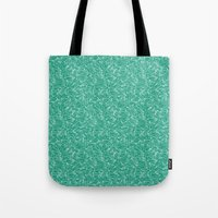 aviation Tote Bags featuring Schoolyard Aviation Green by Dianne Delahunty