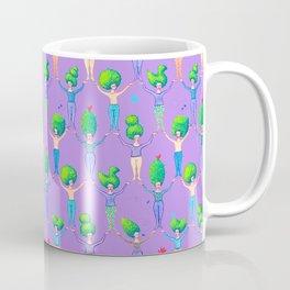 Topiary Ladies on Purple Coffee Mug