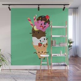Neapolitan Ice Cream Wall Mural