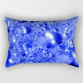 Blue Ornaments Rectangular Pillow