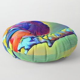 Purple Bird Floor Pillow