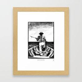 Māori Harpooner Framed Art Print
