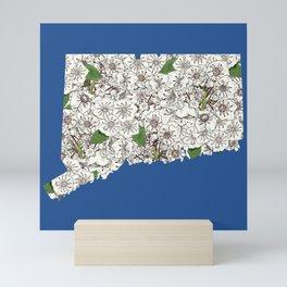 Connecticut in Flowers Mini Art Print