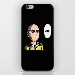 One Punch Man v2 iPhone Skin
