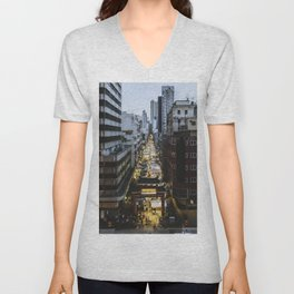 Hong Kong Night Market Unisex V-Neck