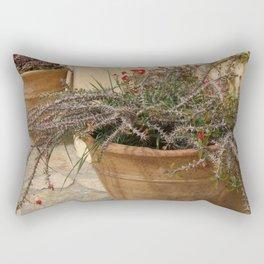 Courtyard Plants Rectangular Pillow